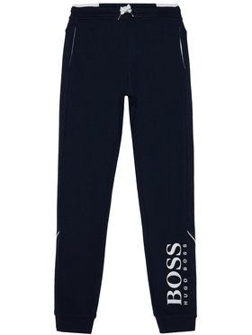 Boss Boss Spodnie dresowe J24J35 D Granatowy Regular Fit