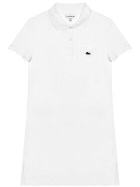 Lacoste Lacoste Každodenní šaty EJ2816 Bílá Regular Fit