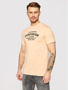 Quiksilver Quiksilver T-Shirt Wider Mile EQYZT06328 Oranžová Regular Fit