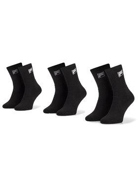 Fila Fila Unisex ilgų kojinių komplektas (3 poros) Calza Tennis Socks F9000 Juoda