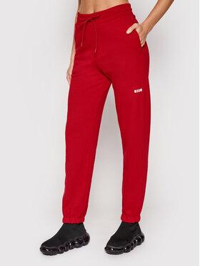 MSGM MSGM Pantaloni da tuta 2000MDP500 200001 Rosso Regular Fit