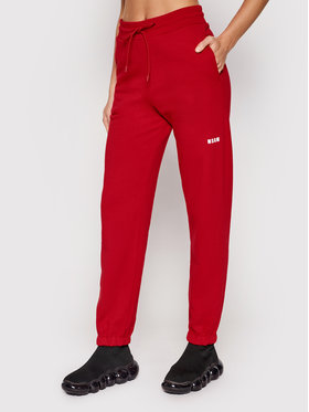 MSGM MSGM Pantaloni trening 2000MDP500 200001 Roșu Regular Fit