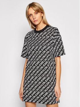 Calvin Klein Jeans Calvin Klein Jeans Ежедневна рокля Institutional Logo J20J215678 Черен Relaxed Fit