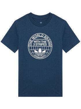 adidas adidas Marškinėliai Graphic Print GN4127 Tamsiai mėlyna Loose Fit