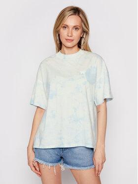 Wrangler Wrangler T-shirt Girlfriend W7Q9GHB27 Blu Relaxed Fit