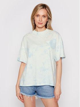 Wrangler Wrangler T-Shirt Girlfriend W7Q9GHB27 Modrá Relaxed Fit