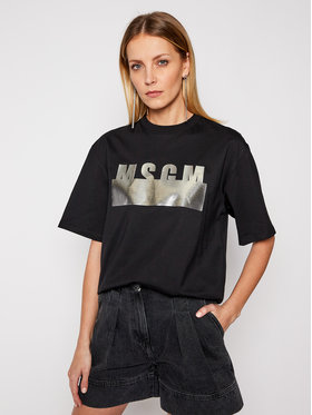 MSGM MSGM T-Shirt 3041MDM180 217298 Černá Regular Fit