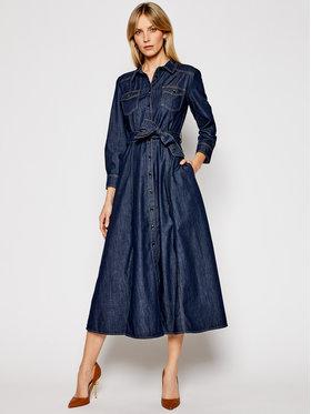 Marella Marella Sukienka jeansowa Spora 32210214 Granatowy Regular Fit