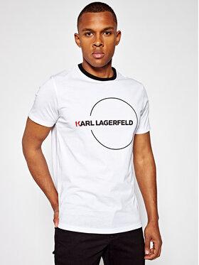 KARL LAGERFELD Tričko Crew Neck 755044 501220 Biela Regular Fit