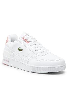 Lacoste Lacoste Sneakersy T-Clip 0121 1 Suj 7-42SUJ00041Y9 Biela