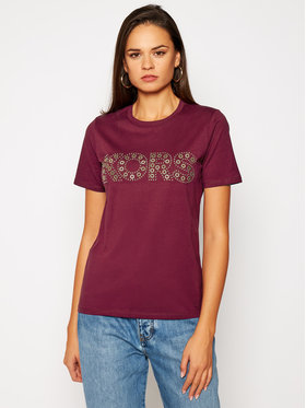 MICHAEL Michael Kors MICHAEL Michael Kors T-shirt Studded Logo MF05MSU97J Bordeaux Regular Fit