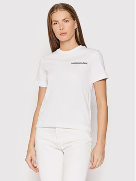Calvin Klein Jeans Calvin Klein Jeans T-Shirt J20J216256 Biały Regular Fit