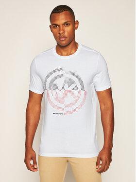 MICHAEL Michael Kors MICHAEL Michael Kors T-Shirt Graphic Logo CU05JK0FV4 Biały Regular Fit