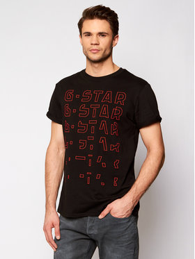 G-Star Raw G-Star Raw Tričko Embro Gradient D19223-336-6484 Čierna Regular Fit