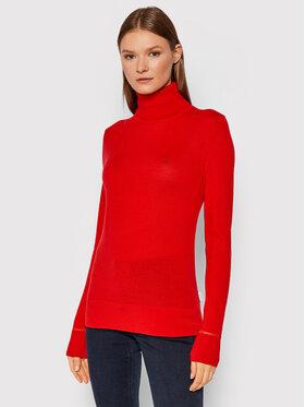 Calvin Klein Calvin Klein Golf Merino Roll K20K203202 Czerwony Slim Fit