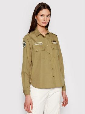 Aeronautica Militare Aeronautica Militare Marškiniai 211CA1185DCT2695 Žalia Regular Fit
