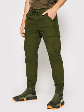 Alpha Industries Alpha Industries Joggers kalhoty Ripstop 116201 Zelená Tapered Fit