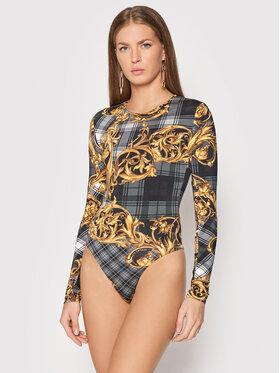 Versace Jeans Couture Versace Jeans Couture Боди Regalia Baroque Print 71HAM221 Черен Slim Fit