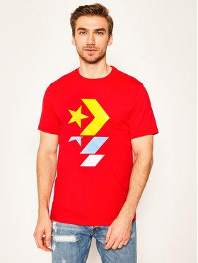 Converse Converse T-shirt Chevron 10017452-A14 Rouge Regular Fit