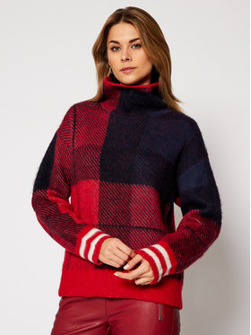 TOMMY HILFIGER TOMMY HILFIGER Пуловер ICONS Check WW0WW29121 Цветен Regular Fit