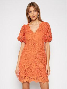 Ermanno Firenze Ermanno Firenze Sukienka koktajlowa AB41MAC Pomarańczowy Regular Fit