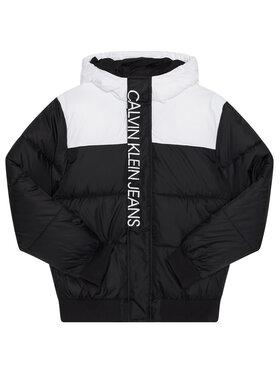 Calvin Klein Jeans Calvin Klein Jeans Pehelykabát Colour Block IB0IB00559 Fekete Regular Fit