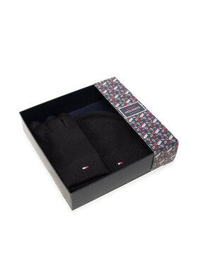 Tommy Hilfiger Tommy Hilfiger Set mănuși și căciulă Gp Pima Cotton Beanie & Gloves AM0AM06595 Negru