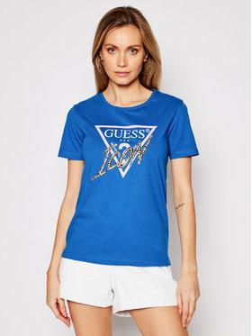 Guess Guess T-shirt Ss Cn Icon Tee W1RI25 I3Z00 Blu Regular Fit