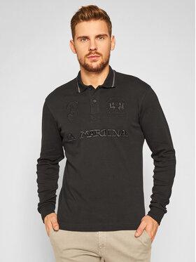 La Martina La Martina Polo marškinėliai QMP317 JS169 Juoda Regular Fit