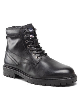 Pepe Jeans Pepe Jeans Trapery Ned Boot Lth PMS50210 Czarny