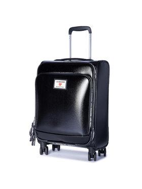 LOVE MOSCHINO LOVE MOSCHINO Közepes szövetborítású bőrönd JC5100PP1CLC100A Fekete