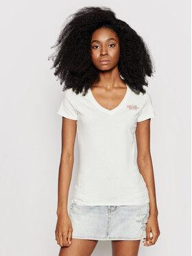 Pepe Jeans Pepe Jeans T-shirt Bleu PL504820 Blanc Slim Fit