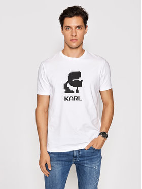 KARL LAGERFELD KARL LAGERFELD T-shirt Crewneck 755032 511221 Bijela Regular Fit