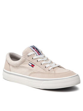 Tommy Jeans Tommy Jeans Tenisówki Corduroy Skate Sneaker EN0EN01508 Beżowy