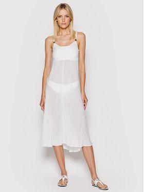 Calvin Klein Swimwear Calvin Klein Swimwear Sukienka plażowa Core Textured KW0KW01352 Biały Regular Fit
