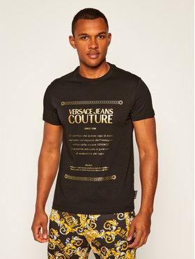 Versace Jeans Couture Versace Jeans Couture Marškinėliai B3GZA7TF Juoda Slim Fit