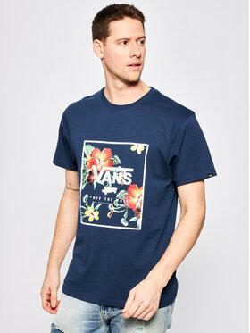 Vans Vans T-Shirt Print Box VN0A312SYKB1 Dunkelblau Slim Fit