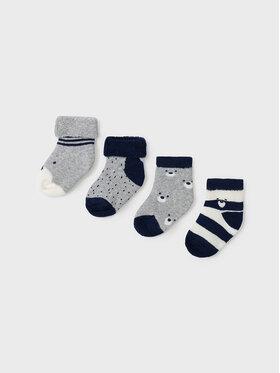 Mayoral Mayoral Sada 4 párů dětských vysokých ponožek 9421 Tmavomodrá