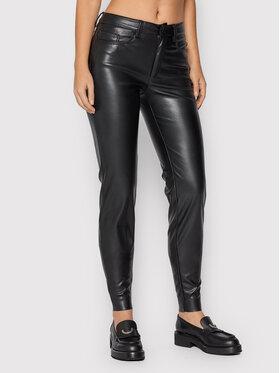 Noisy May Noisy May Spodnie z imitacji skóry Callie Andy 27018179 Czarny Slim Fit