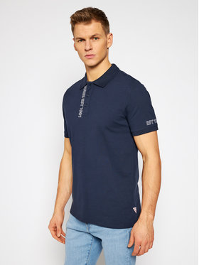 Guess Guess Polo M1RP54 K7O61 Blu scuro Slim Fit