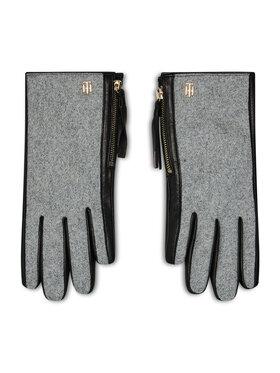 Tommy Hilfiger Tommy Hilfiger Dámske rukavice Th Wool Mix Gloves AW0AW08943 Sivá