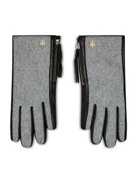 Tommy Hilfiger Tommy Hilfiger Guanti da donna Th Wool Mix Gloves AW0AW08943 Grigio