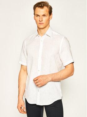 Boss Boss Риза Luka 50427126 Бял Regular Fit