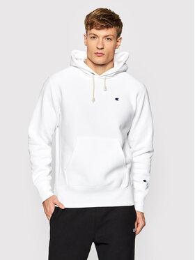 Champion Champion Μπλούζα Reverse Weave C Logo 216496 Λευκό Regular Fit