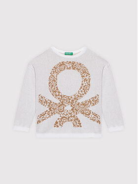United Colors Of Benetton United Colors Of Benetton Πουλόβερ 1194Q1064 Μπεζ Boxy Fit