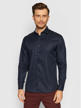 Selected Homme Selected Homme Chemise New Mark 16058640 Bleu marine Slim Fit