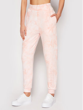 Guess Guess Teplákové kalhoty O1GA38 K68I1 Růžová Regular Fit