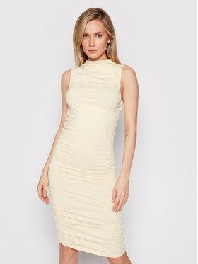 NA-KD NA-KD Ежедневна рокля Gathered Sleeveless 1660-000546-0140-003 Бежов Slim Fit