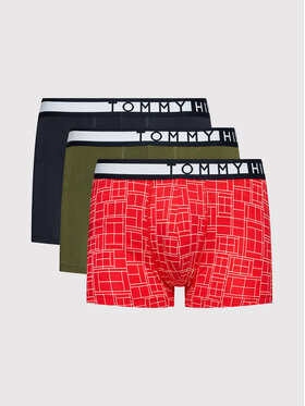 Tommy Hilfiger Tommy Hilfiger 3er-Set Boxershorts 3P Trunk Print UM0UM01565 Bunt