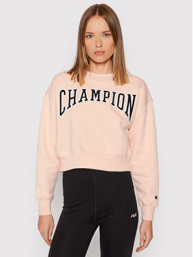 Champion Champion Bluza Collegiate Logo 114767 Różowy Regular Fit